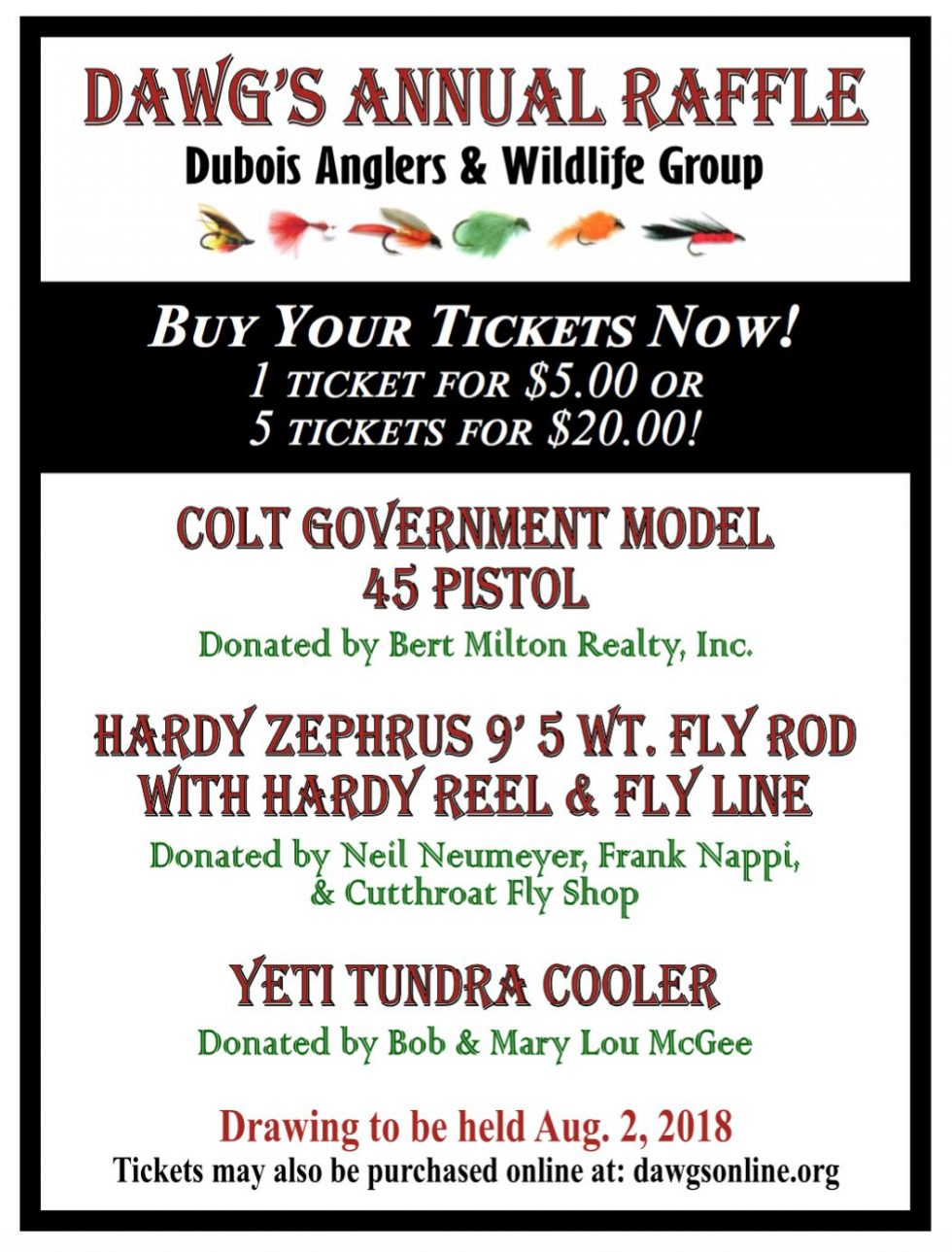 Win dubois anglers and wildlife group
