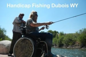 Ashley and Leon Flyfishing on the completed Handicap Access site