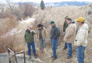 Ranch Manager Reg Phillips, Diamond D and Jeff Vanuga Discussing The Horse Creek Diversion Project
