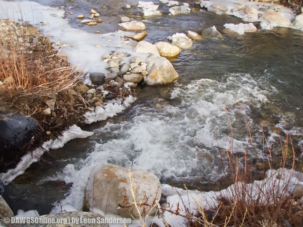 Water Flow on Horse Creek December 2012 After Photo