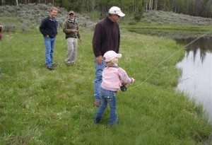 Kids Fishing Day-scouts pond-frank-neil-and little fly fishers-2