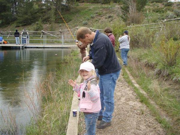 Never too young to learn to tell tall tales when it comes to fishing