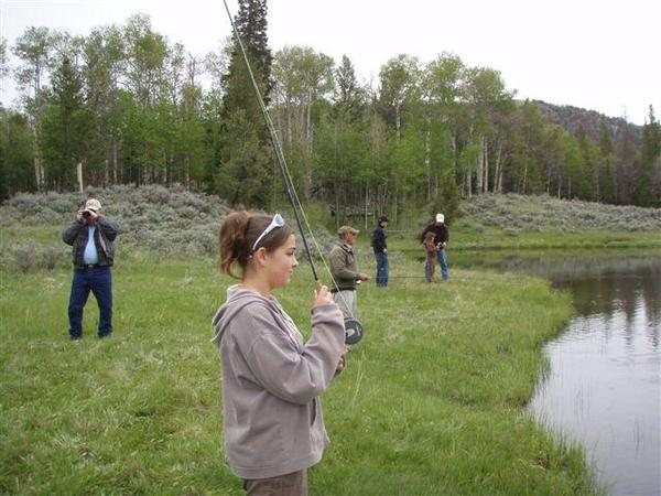 Kids Fishing Day-scouts pond-young-lady-ready to cast-6